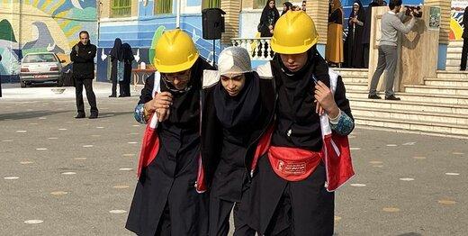 در مانور زلزله و ایمنی مدارس چه گذشت؟/ تصاویر