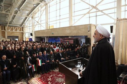 افتتاح خط آهن میانه- بستان آباد با حضور رئیس جمهور