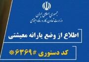 مهلت ثبت اعتراضات در سامانه #۶۳۶۹* اعلام شد