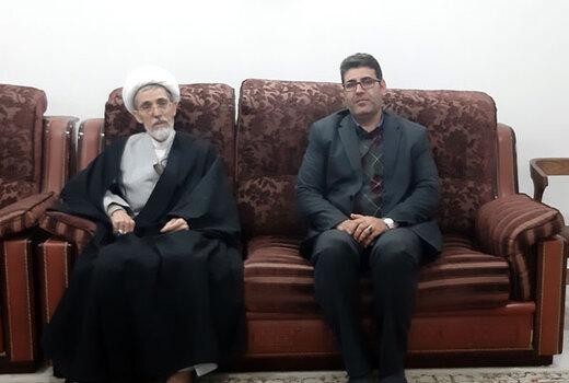 دیدار مدیرکل فرهنگ و ارشاد لرستان با آیت الله نیازی خرم آبادی