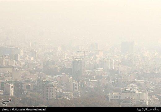 آلودهترین مناطق تهران روی نقشه