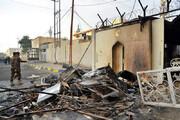 عکس   کنسولگری ایران در نجف یک روز پس از آتش سوزی