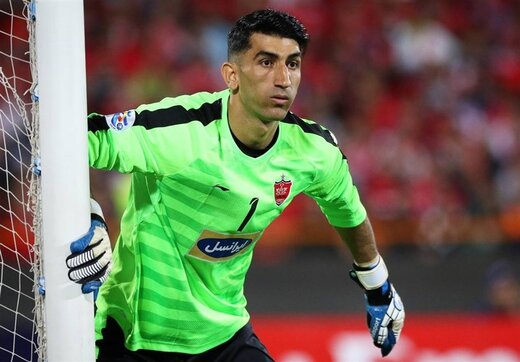 Iranian goalkeeper selected as best penalty keeper in Asia