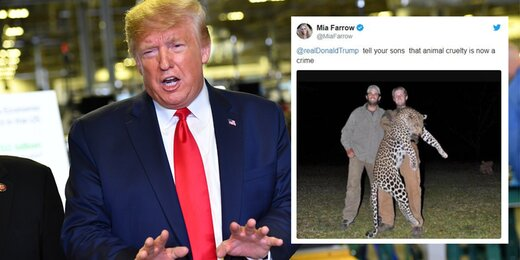 میا فارو به ترامپ و پسرانش کنایه زد
