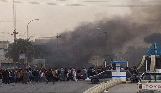 مرکز پلیس ذی قار از سوی معترضان محاصره شد