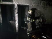 نجات مادر و دو فرزند از میان آتشسوزی ساختمان پنج طبقه