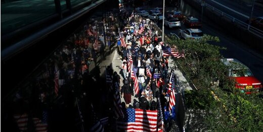 تصاویر|استقبال هنگ کنکی ها به اقدام تازه ترامپ