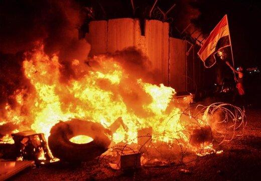آتشسوزی امشب کنسولگری ایران در نجف اشرف باز هم تعرض بود؟