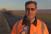 روکش آسفالت 65 کیلومتر از محورهای مواصلاتی اردبیل