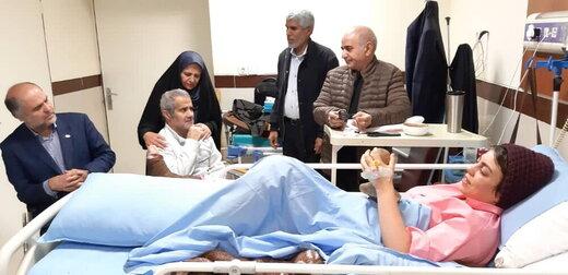 تقدیر پرویز پرستویی و جانبازان از نرگس کلباسی