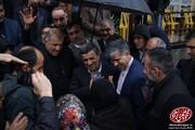 تصاویر | احمدینژاد و مشایی در مراسم چهلم مادر مشایی اما بدون عکس مشترک