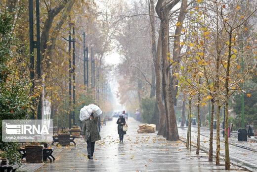 استانهایی که امروز و فردا بارانی میشوند/ تهران فردا بارانیست