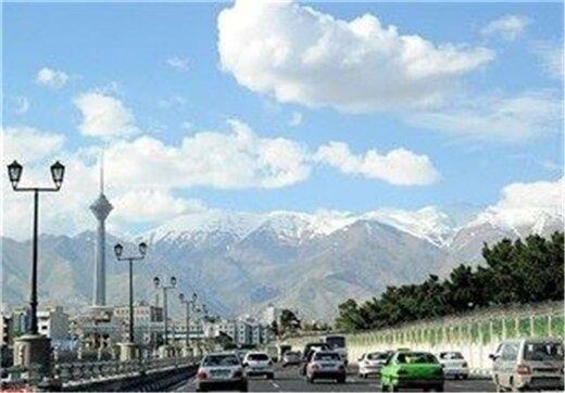 هوای تهران برای دومین روز متوالی پاک است