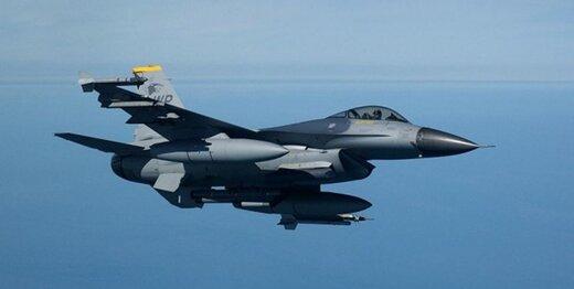 جنگنده اف16 آمریکا در کره جنوبی سقوط کرد