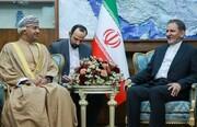 جهانگیری: هیچ محدودیتی برای گسترش همکاری با عمان نداریم/ حجم تجارت خارجی ایران در سختترین شرایط تحریم بیش از ۱۰۰ میلیارد دلار در سال است
