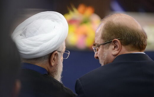 نقشه قالیباف برای دولت روحانی /معنای خنده «سردار» به روزهای سخت «شیخ» چیست؟