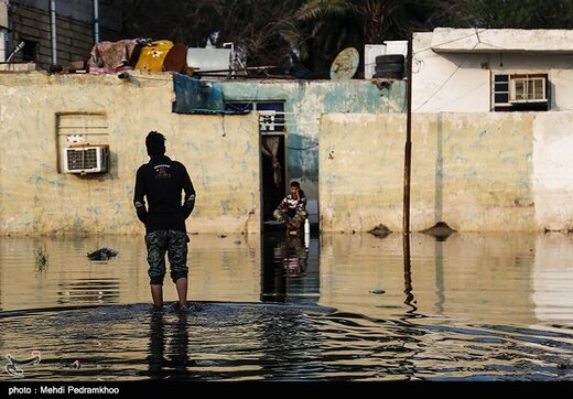 طغیان فاضلاب در خیابان های شهر کوت عبدالله - خوزستان