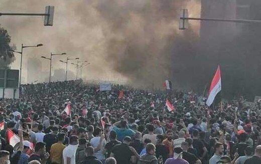 ببینید | رازگشایی از هدفی که مردم معترض عراق برایش در خیابانهای بغداد و نجف و کربلا جان میدهند