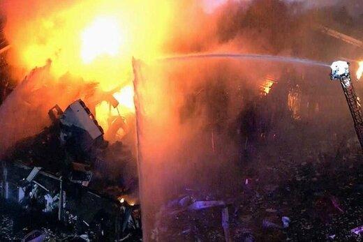 انفجار گاز در شهرری و تخریب دو طبقه مسکونی