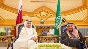 آغوش شاه سعودی برای نخست وزیر قطر/عکس