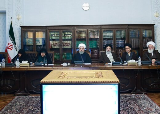 تصویری از جلسه شورای عالی انقلاب فرهنگی به ریاست روحانی و غیبت لاریجانی