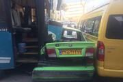 فیلم | صحنه تصادف مرگبار اتوبوس با ۳ دستگاه ون در ولنجک