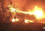 ببینید | شعلههای مهیب آتش در چهارراه استانبول که آتشنشانان با رشادت مهارش کردند