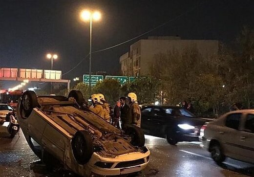 واژگونی مرگبار خودرویی که ۱۳ سرنشین غیرمجاز داشت