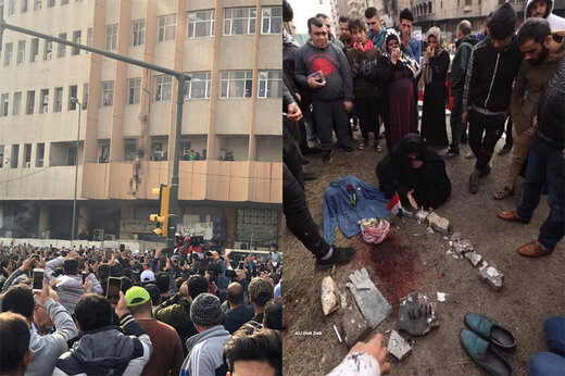 عکس | تلخترین تصویر از آشوبهای خونین عراق: اشکهای مادر بر محل اعدام پسر