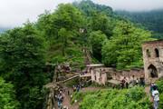 تصاویر | بزرگترین قلعه آجری ایران در بین جنگل و مه