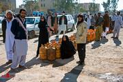 تصاویر | مردم زاهدان در صفهای گاز مایع
