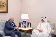 Zarif confers with Qatari Prime Minister on Tehran-Doha cooperation
