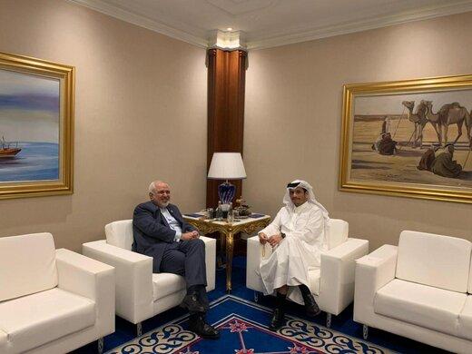 Iranian, Qatari FMs consult on regional developments