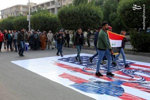 لگدمال کردن پرچم آمریکا در عراق