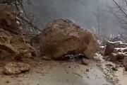 ریزش کوه، جاده پلدختر- خرمآباد را بست