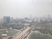 عکس | آلودگی هوای تهران از نمای ساختمان استانداری