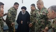 دیدار مجروحان ارتش عراق و آیتالله سید علی سیستانی/ عکس