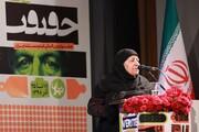حرکت جالب مادر ۵ شهید در اختتامیه جشنواره سینما حقیقت