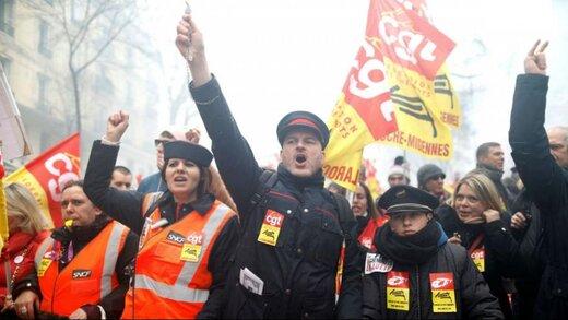 فرانسه در دوازدهمین روز اعتصاب/ تنش در پاریس ادامه دارد