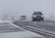 برف سبب لغزندگی جاده کرج - چالوس شد