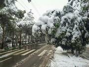 بارش برف سنگین مدارس و دانشگاه های همدان را تعطیل کرد