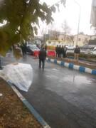 تخریب دیوار ۱۰۰ متری میدان میوه تربار کرج/ تخریب قانونی و دارای مجوز بوده