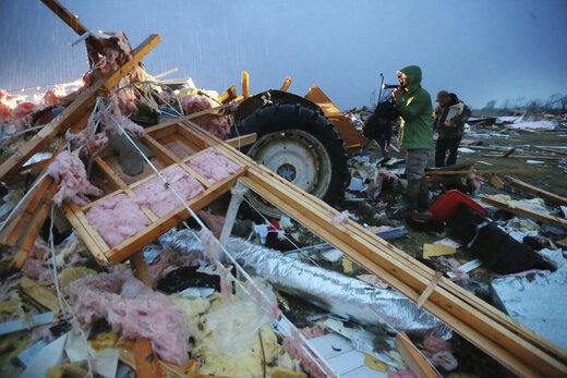خسارت گردباد مهیب در آمریکا