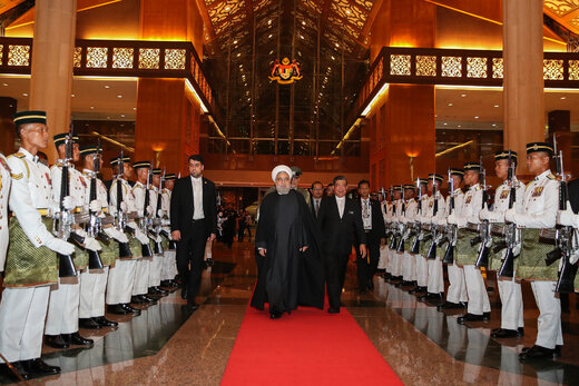 Rouhani arrives in Kuala Lumpur