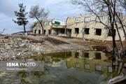 تصاویر | وضعیت روستای «حسین آباد کالپوش» نه ماه پس از رانش زمین