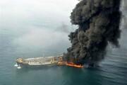 ببینید | ویدئوی جدید از صحنه آتشسوزی کشتی سانچی