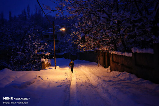 طبیعت زمستانی روستای سیلوار همدان