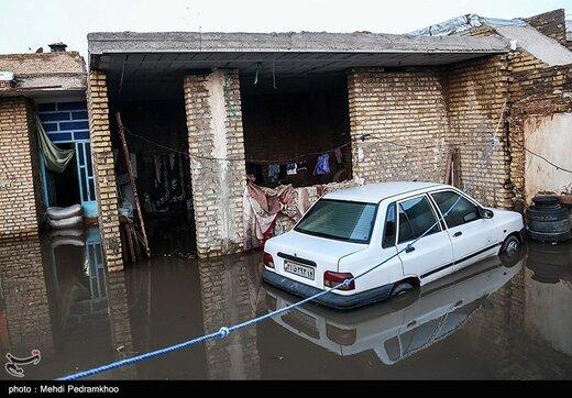 آبگرفتگی شدید در گاومیش آباد