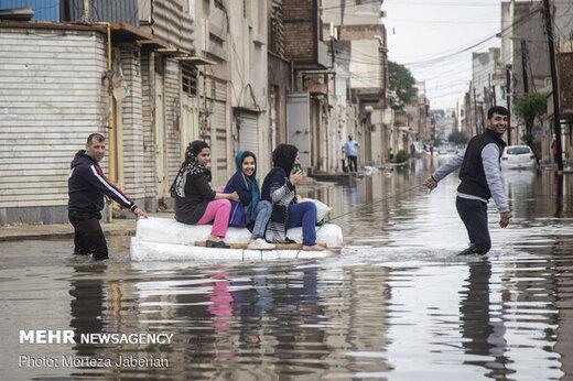 بهره مندی ۱۵۵۶ نفر از خدمات هلال احمر در بارش اخیر خوزستان