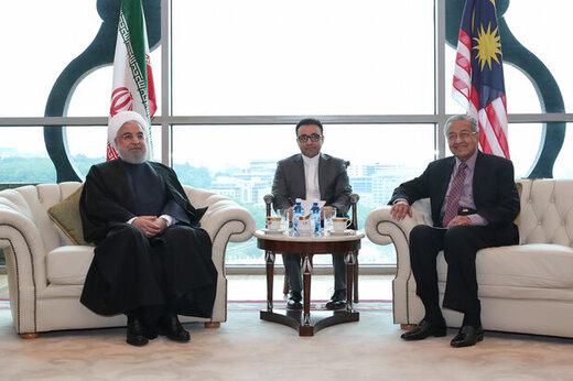 تصویری از دیدار حسن روحانی با نخست وزیر مالزی